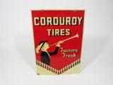 1930S CORDUROY TIRES TIN AUTOMOTIVE GARAGE SIGN