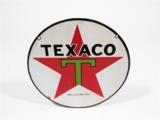 1930S TEXACO PORCELAIN LUBESTER PLATE SIGN