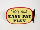 GENERAL TIRES USE OUR EASY PAY PLAN TIN AUTOMOTIVE GARAGE FLANGE SIGN