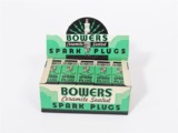 BOX OF 1930S BOWERS CERAMITE SEALED SPARK PLUGS