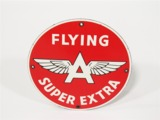 CIRCA 1940S-50S FLYING A GASOLINE PORCELAIN PUMP PLATE SIGN