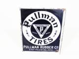 1930S PULLMAN TIRES PORCELAIN AUTOMOTIVE GARAGE FLANGE