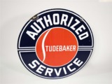 EARLY 1950S AUTHORIZED STUDEBAKER SERVICE PORCELAIN DEALERSHIP SIGN