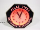 1930S ATLAS TIRES NEON FILLING STATION CLOCK