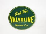 1952 VALVOLINE MOTOR OIL TIN AUTOMOTIVE GARAGE SIGN