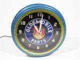 1940S OLDSMOBILE PARTS NEON CLOCK