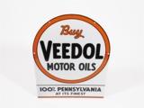 1930S VEEDOL MOTOR OIL PORCELAIN SERVICE STATION SIGN