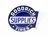 LATE 1920S-EARLY 30S GOODRICH TIRES PORCELAIN AUTOMOTIVE GARAGE SIGN