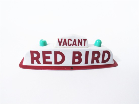 CIRCA LATE 1950S-EARLY 60S RED BIRD TAXI MARQUEE SIGN