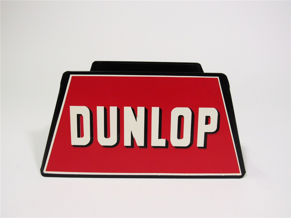 1950S DUNLOP TIRES FILLING STATION METAL TIRE DISPLAY STAND