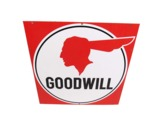 LATE 1950S-EARLY 60S PONTIAC GOODWILL USED CARS PORCELAIN DEALERSHIP SIGN