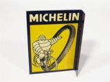 CIRCA 1950S MICHELIN BICYCLE TIRES TIN GARAGE FLANGE