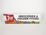 1971 7UP GROCERIES AND FROZEN FOODS GENERAL STORE SIGN