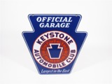 1940S KEYSTONE AUTOMOBILE CLUBPORCELAIN SIGN