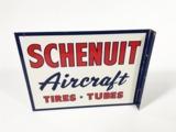 SCHENUIT AIRCRAFT TIRES-TUBES TIN FLANGE SIGN