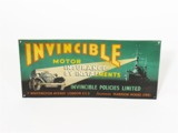 1930S INVINCIBLE MOTOR INSURANCE OF LONDON TIN SIGN