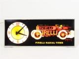 1960S PIRELLI RADIAL TIRES LIGHT-UP GARAGE CLOCK