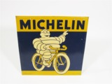 1934 MICHELIN BICYCLE TIRES EMBOSSED TIN SIGN