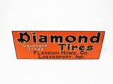 1930S DIAMOND TIRES EMBOSSED TIN GARAGE SIGN