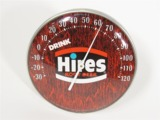 CIRCA 1960S HIRES ROOT BEER DINER DIAL THERMOMETER