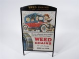 LATE 1920S-EARLY 30S WEED CHAINS STATION DISPLAY POSTER
