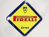 1960S PIRELLI TIRES PORCELAIN AUTOMOTIVE GARAGE SIGN