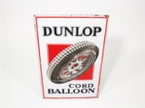 LATE 1920S-EARLY 30S DUNLOP TIRES PORCELAIN GARAGE SIGN