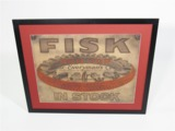 EARLY 1920S FISK TIRES GARAGE POSTER