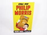 CIRCA 1930S PHILLIP MORRIS CIGARETTES EMBOSSED TIN SIGN