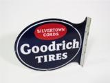 1930S GOODRICH TIRES PORCELAIN AUTOMOTIVE GARAGE FLANGE SIGN
