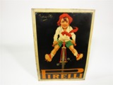 1930 PIRELLI BICYCLE TIRES TIN LITHO SIGN