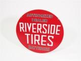 1940S RIVERSIDE TIRES AUTHORIZED DEALER PORCELAIN AUTOMOTIVE GARAGE SIGN