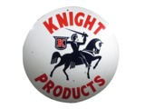 CIRCA 1940S KNIGHT OIL COMPANY PORCELAIN SERVICE STATION SIGN