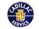 LATE 1940S-EARLY 50S CADILLAC AUTHORIZED SERVICE PORCELAIN DEALERSHIP SIGN