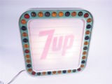 LATE 1960S-EARLY 70S 7UP SODA LIGHT-UP DINER MENU BOARD