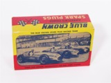 1950S BLUE CROWN SPARK PLUGS COUNTERTOP DISPLAY BOX