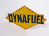CIRCA 1940S SUNOCO DYNAFUEL PORCELAIN PUMP-PLATE SIGN