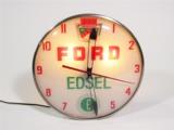 1958 FORD EDSEL LIGHT-UP DEALERSHIP CLOCK