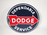 CIRCA EARLY 1950S DODGE PORCELAIN DEALERSHIP SIGN