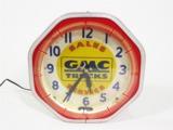 1940S GMC TRUCKS NEON SHOWROOM SALES CLOCK