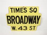 1950S NEW YORK CITY PORCELAIN STREET SIGN