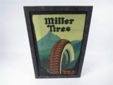LATE 1920S MILLER TIRES TULLOGRAPH FILLING STATION DISPLAY SIGN