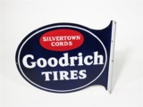 1930S GOODRICH SILVERTOWN CORDS TIRES PORCELAIN FILLING STATION SIGN
