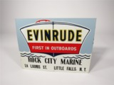 EARLY 1950S EVINRUDE EMBOSSED TIN MARINA SIGN
