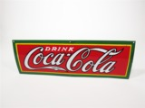 1930S COCA-COLA PORCELAIN FOUNTAIN SERVICE SIGN