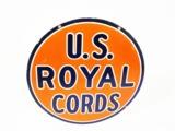 1930S U.S. ROYAL CORDS PORCELAIN AUTOMOTIVE GARAGE SIGN