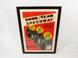 1930S GOODYEAR SPEEDWAY TIRES SERVICE DEPARTMENT SALES POSTER