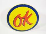 1950S CHEVROLET OK USED CARS PORCELAIN DEALERSHIP SIGN