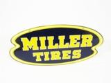 1950S MILLER TIRES TIN AUTOMOTIVE GARAGE SIGN