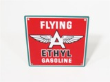 CIRCA 1930S-40S FLYING A ETHYL GASOLINE PORCELAIN PUMP-PLATE SIGN